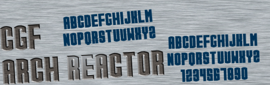 Illustration for CGF Arch Reactor font