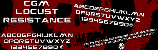 Illustration for CGM Locust Resistance font