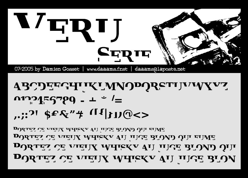 Illustration for Veru Serif font