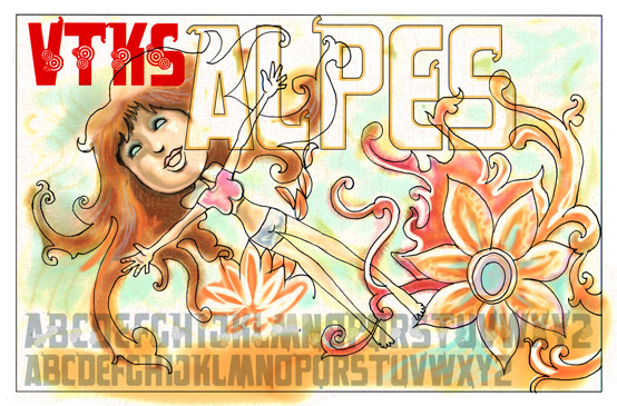 Illustration for VTKS Alpes font