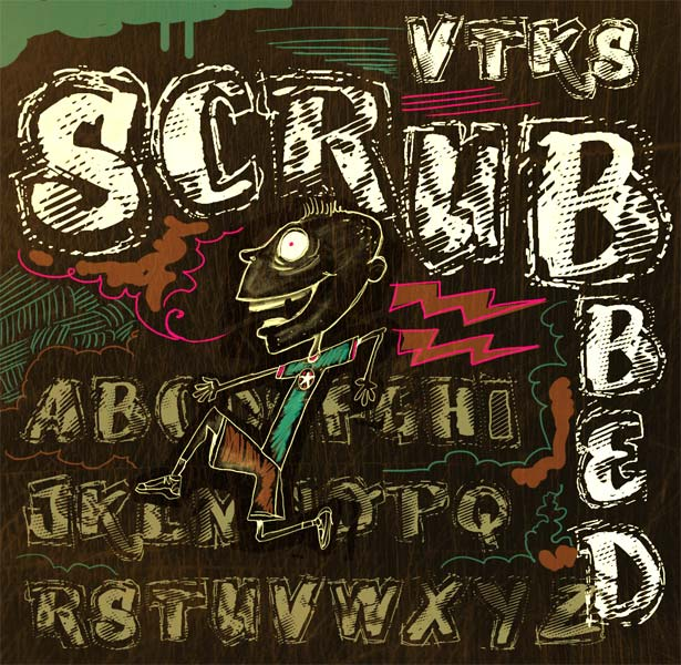Illustration for VTKS Scrubbled font