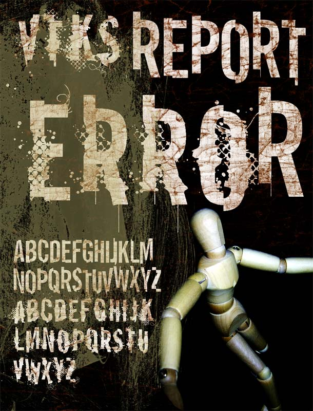 Illustration for VTKS Report Error font