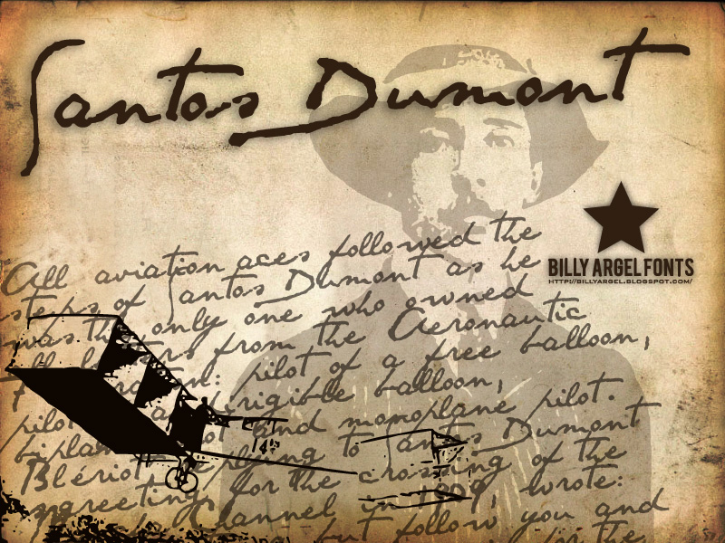 Illustration for Santos Dumont font