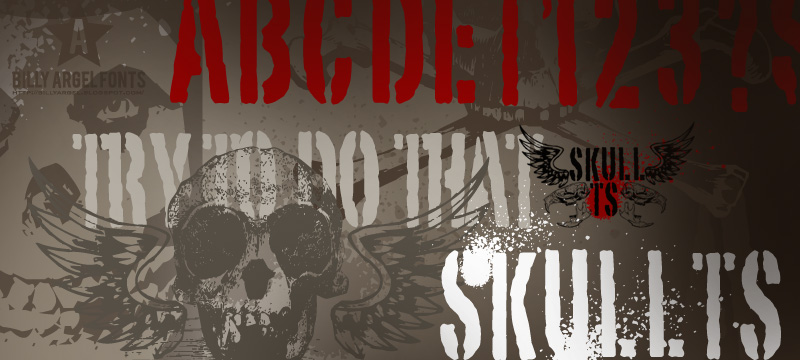 Illustration for Skull TS 2 font