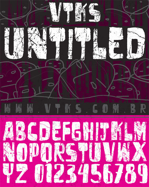 Illustration for VTKS Untitled font