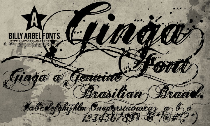Illustration for Ginga font