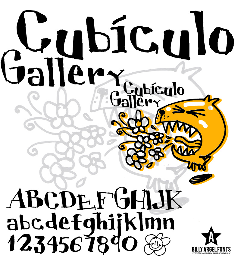 Illustration for Cubiculo Gallery font