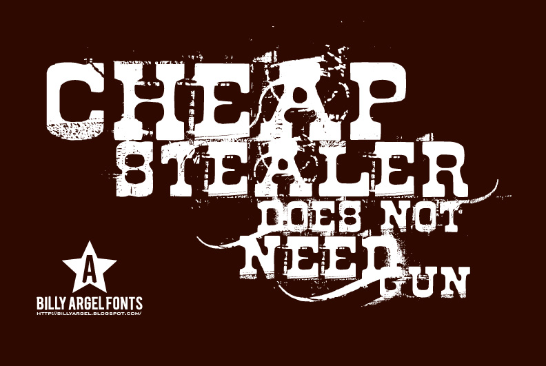 Illustration for cheap stealer font