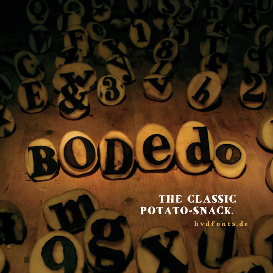 Illustration for HVD Bodedo font