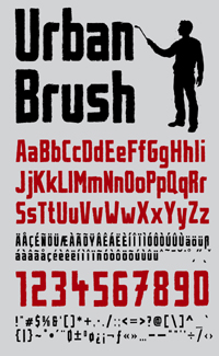Illustration for Urban Brush font