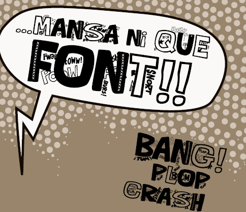 Illustration for Que FONTita! font